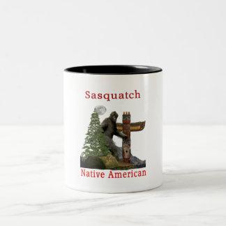 sasquatch products Two-Tone coffee mug