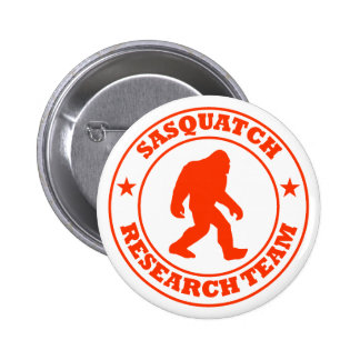 SASQUATCH RESEARCH TEAM - Bigfoot Pro's Red Logo 2 Inch Round Button
