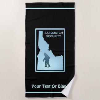 Sasquatch Security - Idaho Beach Towel