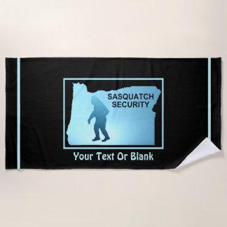 Sasquatch Security - Oregon Beach Towel