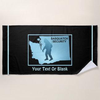 Sasquatch Security - Washington Beach Towel