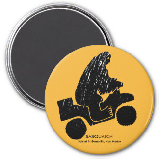 Sasquatch Sighted in Rio Rancho, New Mexico 3 Inch Round Magnet