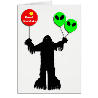 Sasquatch Sighted Roswell, New Mexico Card