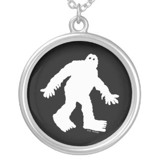 Sasquatch Silver Plated Necklace