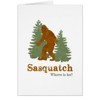 Sasquatch... Where is he? Card