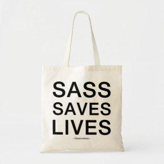 Sass Saves Lives Tote Budget Tote Bag