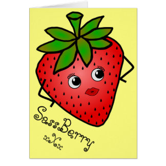 SassBerry Greeting Card