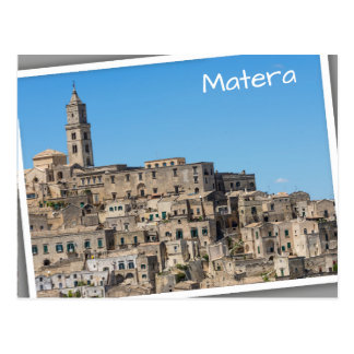 Sassi di Matera city in Italy Postcard