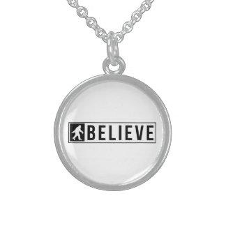 Sassquatch Believe Sterling Silver Necklace