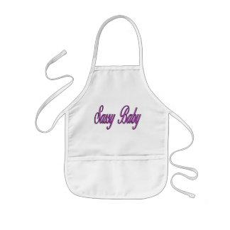 sassy baby pink kids apron