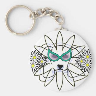 Sassy Beagle Basic Round Button Keychain