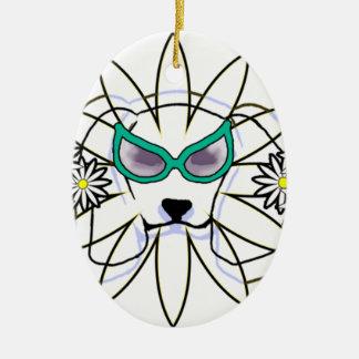 Sassy Beagle Ceramic Oval Ornament