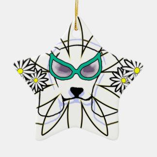 Sassy Beagle Ceramic Star Ornament