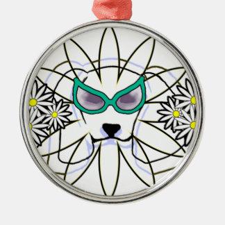 Sassy Beagle Silver-Colored Round Ornament