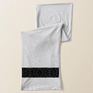 Sassy Black  Design on Grey Scarf