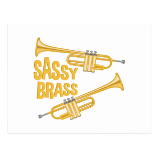 Sassy Brass Postcard