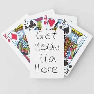 Sassy cat design poker deck