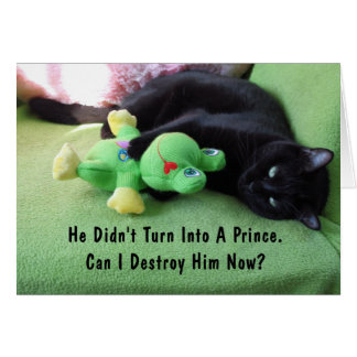 Sassy Cat & Froggy Friendship Card