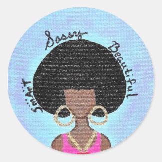 Sassy Classic Round Sticker