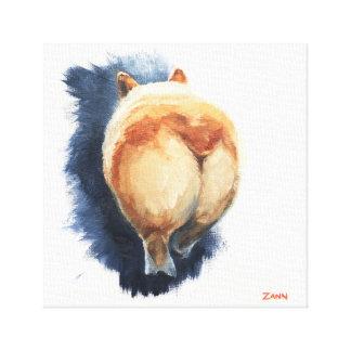 "Sassy Corgi Butt Canvas Print 12"" x 12"""