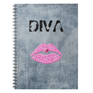 Sassy Diva Lips Notebooks