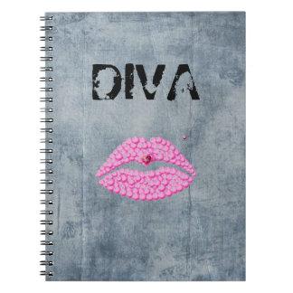 Sassy Diva Lips Spiral Notebooks