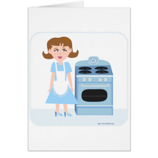 Sassy Fifties Housewife Card