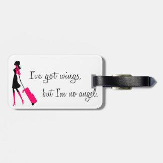 Sassy Flight Attendant Luggage Tag Travel Bag Tags