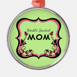 Sassy Floral World's Greatest Mom Ornament