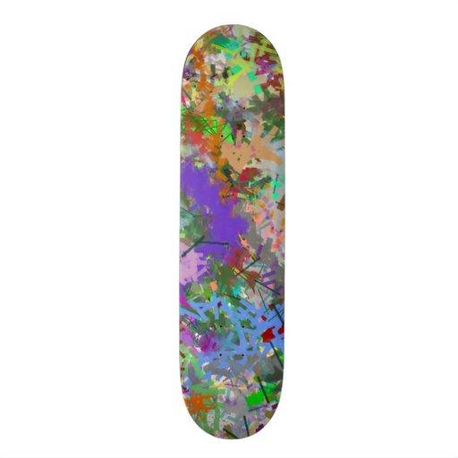 Sassy Fun Color Maze Sissy Girl Camo Colorful Girl Custom Skateboard