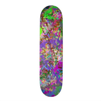 Sassy Fun Color Maze Sissy Girl Camo Colorful Girl Skate Board Deck