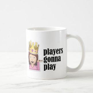 Sassy Girl Emoji - Players Gonna Play Coffee Mug