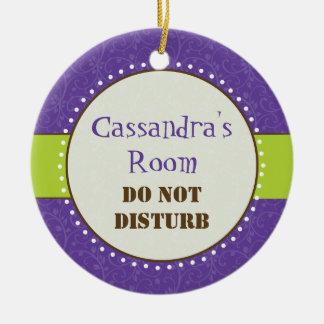 Sassy Girl Room Sign Ornament