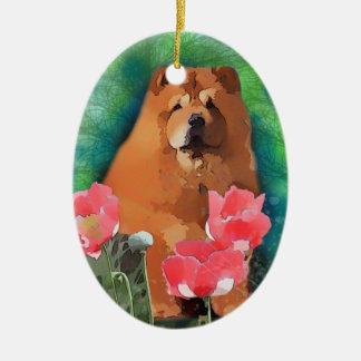 Sassy Holiday Ceramic Oval Ornament