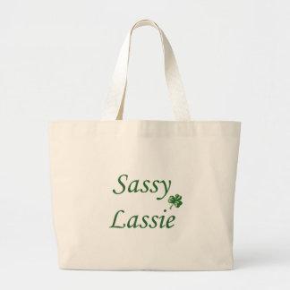 Sassy Lassie Large Tote Bag