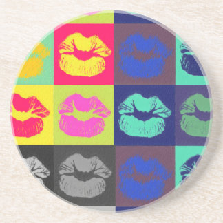 Sassy Lips Tri Colors Drink Coasters