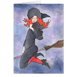 Sassy Little Witch Greeting Card