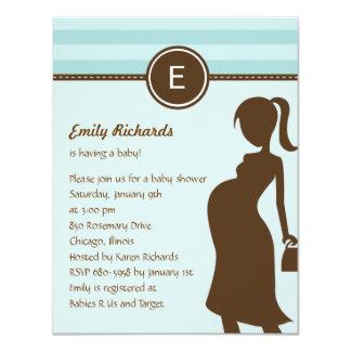 Sassy Mom Baby Shower Invitation - Blue