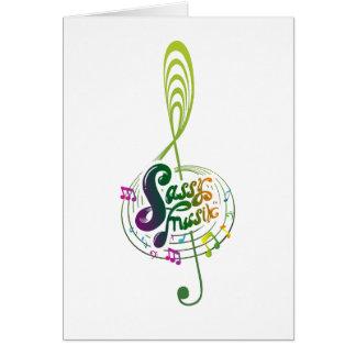 Sassy Musik greeting card