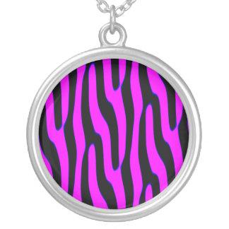 Sassy Neon Pink Wild Animal Print Necklace