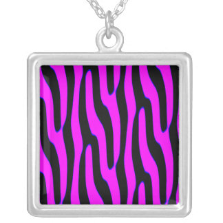 Sassy Neon Pink Wild Animal Print Personalized Necklace