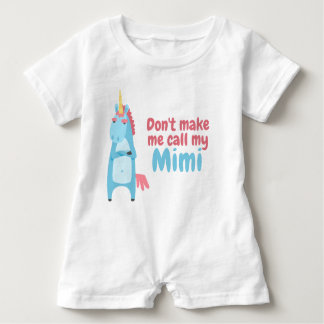 Sassy Pink and Blue Unicorn Is Warning You Baby Romper