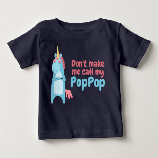 Sassy Pink and Blue Unicorn Is Warning You Baby T-Shirt