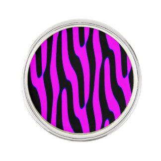 Sassy Pink Wild Animal Print Lapel Pin