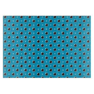 Sassy Polka Dots Cutting Board - Aqua Blue