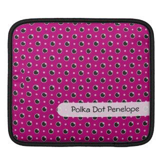 Sassy Polka Dots iPad/ iPad 2 Sleeve - Purple Sleeve For iPads