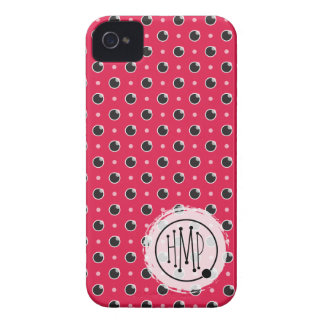 Sassy Polka Dots iPhone 4 Barely There - Pink iPhone 4 Case-Mate Case