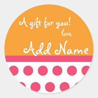 Sassy PolkADot Gift Sticker