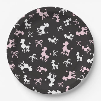 Sassy Poodles Paper Plate