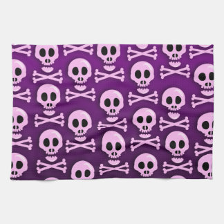 Sassy Purple Skull Kitchen Towel